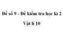 Đề số 9 - Đề kiểm tra học kì 2 - Vật lí 10