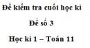 Đề số 3 – Đề kiểm tra học kì 1 – Toán 11