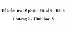 Đề kiểm tra 15 phút - Đề số 9 - Bài 6 - Chương 2 - Hình học  8