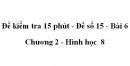 Đề kiểm tra 15 phút - Đề số 15 - Bài 6 - Chương 2 - Hình học  8