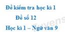 Đề số 12 - Đề kiểm tra học kì 1 (Đề thi học kì 1) - Ngữ văn 9