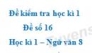 Đề số 16 - Đề kiểm tra học kì 1 (Đề thi học kì 1) - Ngữ văn 8