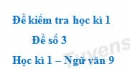 Đề số 3 - Đề kiểm tra học kì 1 (Đề thi học kì 1) - Ngữ văn 9