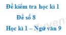Đề số 8 - Đề kiểm tra học kì 1 (Đề thi học kì 1) - Ngữ văn 9