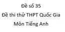 Đề số 35 - Đề thi thử THPT Quốc Gia môn Tiếng Anh