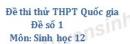 Đề số 1 - Đề thi thử THPT Quốc gia môn Sinh học
