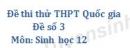 Đề số 3 - Đề thi thử THPT Quốc gia môn Sinh học