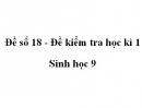 Đề số 18 - Đề kiểm tra học kì 1 - Sinh học 9
