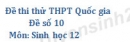 Đề số 10 - Đề thi thử THPT Quốc gia môn Sinh học