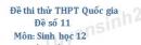 Đề số 11 - Đề thi thử THPT Quốc gia môn Sinh học