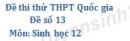 Đề số 13 -  Đề thi thử THPT Quốc gia môn Sinh học