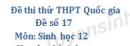 Đề số 17 - Đề thi thử THPT Quốc gia môn Sinh học