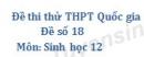 Đề số 18 - Đề thi thử THPT Quốc gia môn Sinh học