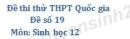 Đề số 19 - Đề thi thử THPT Quốc gia môn Sinh học