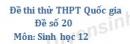 Đề số 20 - Đề thi thử THPT Quốc gia môn Sinh học