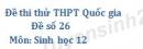 Đề số 26 - Đề thi thử THPT Quốc gia môn Sinh học