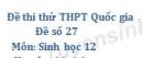 Đề số 27 - Đề thi thử THPT Quốc gia môn Sinh học