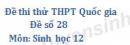 Đề số 28 - Đề thi thử THPT Quốc gia môn Sinh học