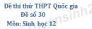 Đề số 30 - Đề thi thử THPT Quốc gia môn Sinh học