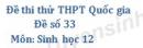 Đề số 33 - Đề thi thử THPT Quốc gia môn Sinh học