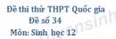 Đề số 34 - Đề thi thử THPT Quốc gia môn Sinh học