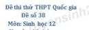 Đề số 38 - Đề thi thử THPT Quốc gia môn Sinh học