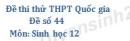 Đề số 44 - Đề thi thử THPT Quốc gia môn Sinh học
