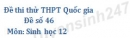 Đề số 46 - Đề thi thử THPT Quốc gia môn Sinh học