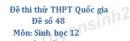 Đề số 48 - Đề thi thử THPT Quốc gia môn Sinh học