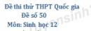 Đề số 50 - Đề thi thử THPT Quốc gia môn Sinh học