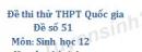 Đề số 51 - Đề thi thử THPT Quốc gia môn Sinh học