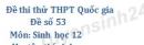 Đề số 53 - Đề thi thử THPT Quốc gia môn Sinh học