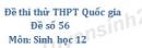 Đề số 56 - Đề thi thử THPT Quốc gia môn Sinh học