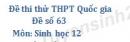 Đề số 63 - Đề thi thử THPT Quốc gia môn Sinh học