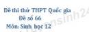Đề số 66 - Đề thi thử THPT Quốc gia môn Sinh học