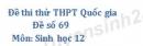 Đề số 69 - Đề thi thử THPT Quốc gia môn Sinh học