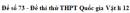 Đề số 73 - Đề thi thử THPT Quốc gia Vật lí