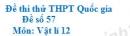 Đề số 47 - Đề thi thử THPT Quốc gia môn Vật lí
