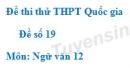 Đề số 19 - Đề thi thử THPT Quốc gia môn Ngữ văn