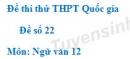Đề số 22 - Đề thi thử THPT Quốc gia môn Ngữ văn