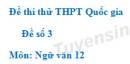 Đề số 3 - Đề thi thử THPT Quốc gia môn Ngữ văn