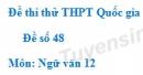 Đề số 48 - Đề thi thử THPT Quốc gia môn Ngữ văn