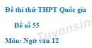 Đề số 55 - Đề thi thử THPT Quốc gia môn Ngữ văn