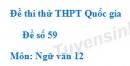 Đề số 59 - Đề thi thử THPT Quốc gia môn Ngữ văn