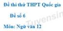 Đề số 6 - Đề thi thử THPT Quốc gia môn Ngữ văn