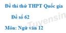 Đề số 62 - Đề thi thử THPT Quốc gia môn Ngữ văn