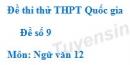 Đề số 9 - Đề thi thử THPT Quốc gia môn Ngữ văn