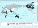 Quan sát lược đồ, kết hợp với bản đồ thế giới và các kiến thức đã học, ghi tên các thuộc địa của Anh, Pháp, Đức, Mĩ