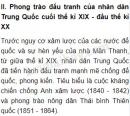Phong trào đấu tranh của nhân dân Trung Quốc cuối thế kỉ XIX - đầu thế kỉ XX