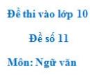 Đề số 11 - Đề thi vào lớp 10 môn Ngữ văn
